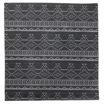 Aztec Themed Chalkboard Effect Aztec Tribal Stripes Napkin