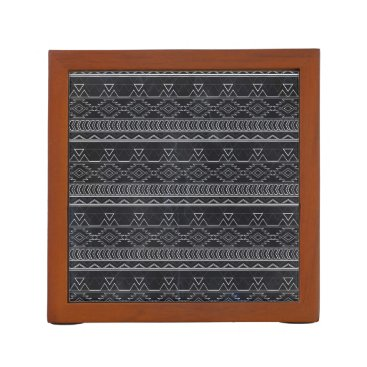 Aztec Themed Chalkboard Effect Aztec Tribal Stripes Pencil Holder