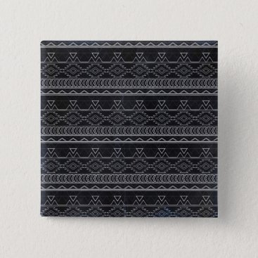 Aztec Themed Chalkboard Effect Aztec Tribal Stripes Pinback Button
