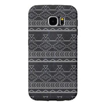 Aztec Themed Chalkboard Effect Aztec Tribal Stripes Samsung Galaxy S6 Case
