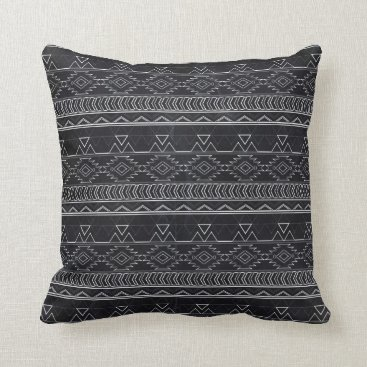 Aztec Themed Chalkboard Effect Aztec Tribal Stripes Throw Pillow
