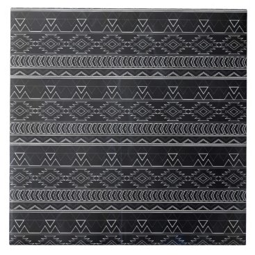 Aztec Themed Chalkboard Effect Aztec Tribal Stripes Tile
