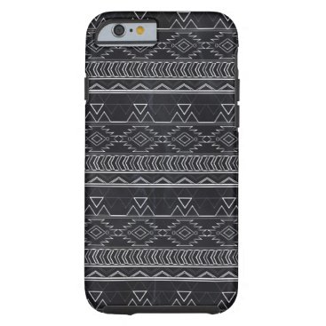 Aztec Themed Chalkboard Effect Aztec Tribal Stripes Tough iPhone 6 Case