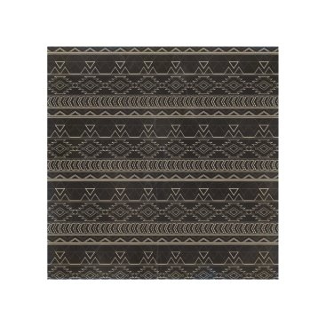 Aztec Themed Chalkboard Effect Aztec Tribal Stripes Wood Wall Art