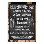 Chalkboard Egyptian Themed Party Invite