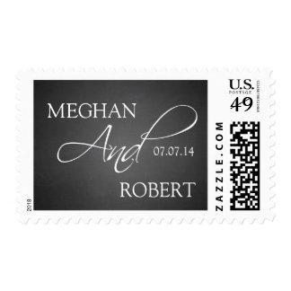 Chalkboard Elegance Save the Date Postage