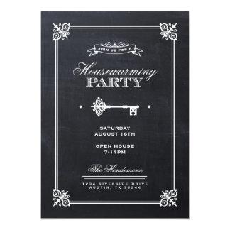 Chalkboard Elegant Key Housewarming Party Personalized Announcement