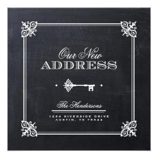 Chalkboard Elegant Key Moving Announcement