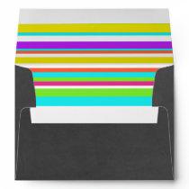 Chalkboard Envelope w Neon Striped Liner