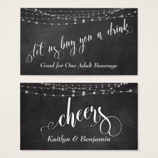 Chalkboard & Fairie Light Strings, Drink Tickets 2
