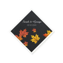 chalkboard fall personalized wedding napkins
