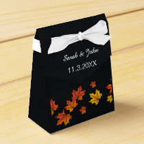 Chalkboard fall wedding favor box