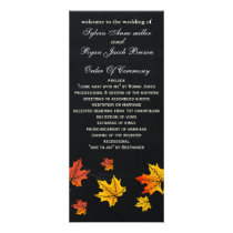 Chalkboard fall wedding programs tea length