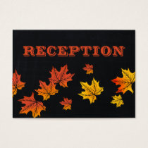 Chalkboard fall wedding reception invite