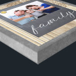 """Chalkboard Family Photo Canvas<br><div class=""""desc"""">Your beautiful family photo will be a treasured keepsake with this chalkboard canvas,  featuring a cute button and &quot;family&quot; in handwriting script.</div>"""