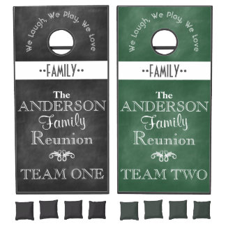 Chalkboard Family Reunion Cornhole Set