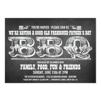 Chalkboard Father's Day Barbeque Invitations