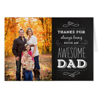 Chalkboard Father's Day Photo Greeting Card