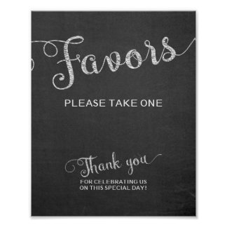 Chalkboard Favors Wedding Sign Please Take One