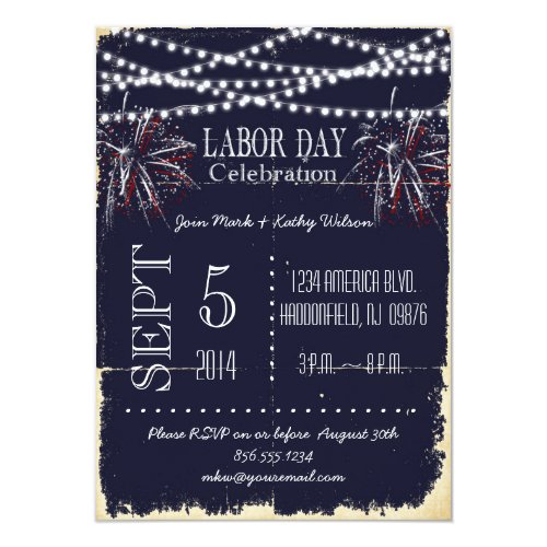 Top 50 Labor Day Invitations – End of Summer Party Invitations