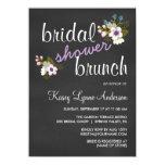 Chalkboard Floral Bridal Shower Brunch Invites
