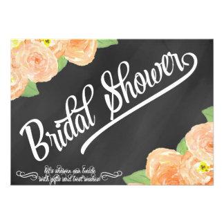 Chalkboard Floral Bridal Shower Invitation
