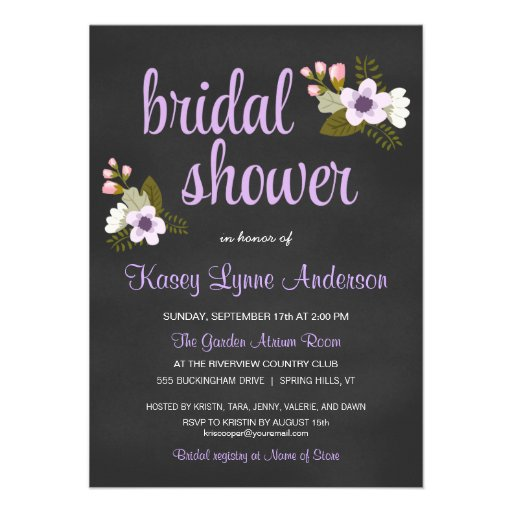 Chalkboard Bridal Shower Invitations was very inspiring ideas you may choose for invitation ideas