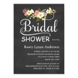 Chalkboard Floral Bridal Shower Invites