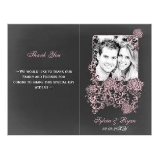 chalkboard Floral  Folding Photo wedding programs