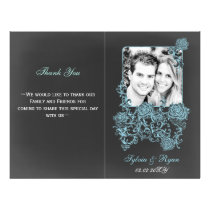 chalkboard Floral Folding Photo wedding programs