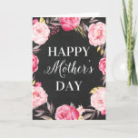 Chalkboard Floral   Mother's Day Greeting Card