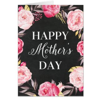 Chalkboard Floral | Mother's Day Greeting Card