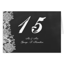 chalkboard floral table seating card