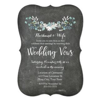 Chalkboard Floral Vintage Vow Renewal Invitation