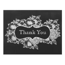 chalkboard floral wedding floral ThankYou Cards