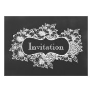 chalkboard floral  Wedding invitations by mgdezigns