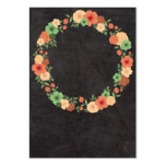 Chalkboard Floral Wreath Business Card