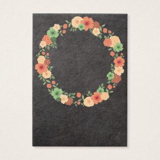 Chalkboard Floral Wreath Business Card