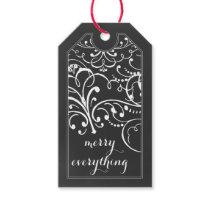 chalkboard flourish christmas Holidays Gift Tag