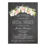 Chalkboard Flowers in Bloom Bridal Shower Personalized Invite