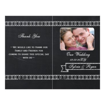 chalkboard Folding Photo wedding programs