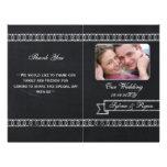 chalkboard Folding Photo wedding programs Personalized Flyer