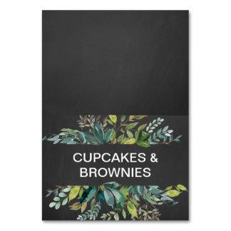 Chalkboard Foliage Buffet Food Labels Card
