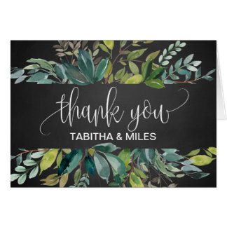 Chalkboard Foliage Thank You Card