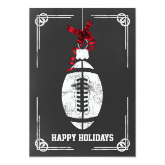 chalkboard football player Christmas Cards