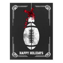 chalkboard football player Christmas Cards