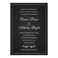 Chalkboard Formal Typography Wedding Invitations