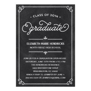 Chalkboard Frame Graduation Party Invitation