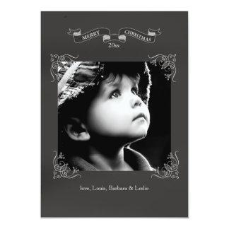 Chalkboard Frame Holiday Photo Card