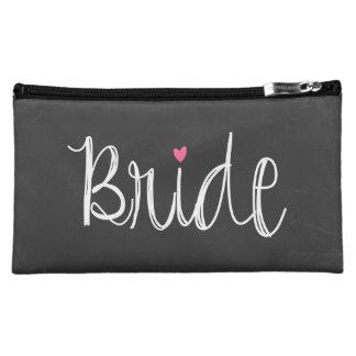 Chalkboard Fun Script Bride Cosmetic Bag